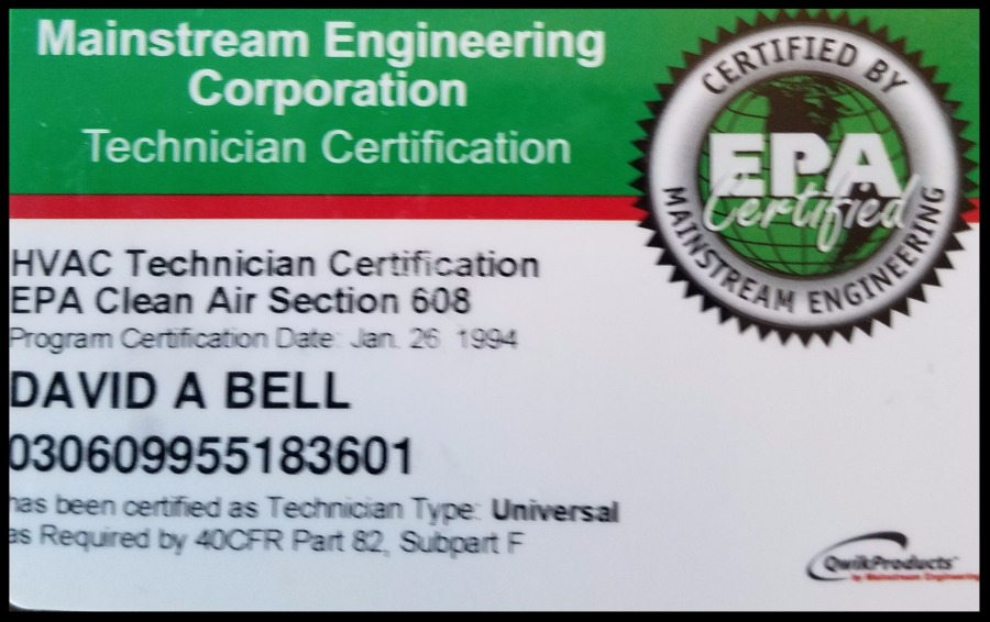 Bell Home Inspection Services Licenses Certifications